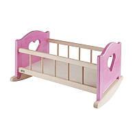 Кроватка-колыбель для куклы Berenguer до 50 см, розовая