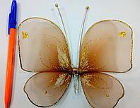 Декоративная Бабочка для штор терракот