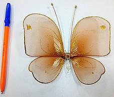 Декоративная Бабочка для штор терракот , фото 2