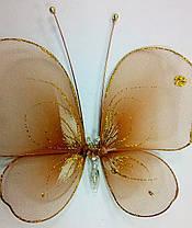 Декоративная Бабочка для штор терракот , фото 3