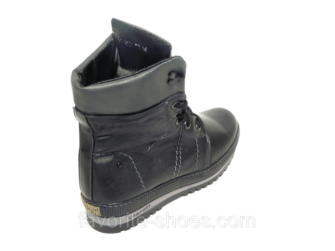 Зимние мужские кожаные ботинки Adore высокий