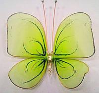 Декоративная Бабочка для штор зеленая