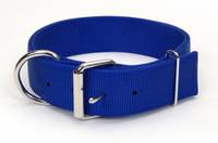 Двойной ошейник для собак, нейлон, Coastal MACHO DOG, 4,5см * 61см  синий