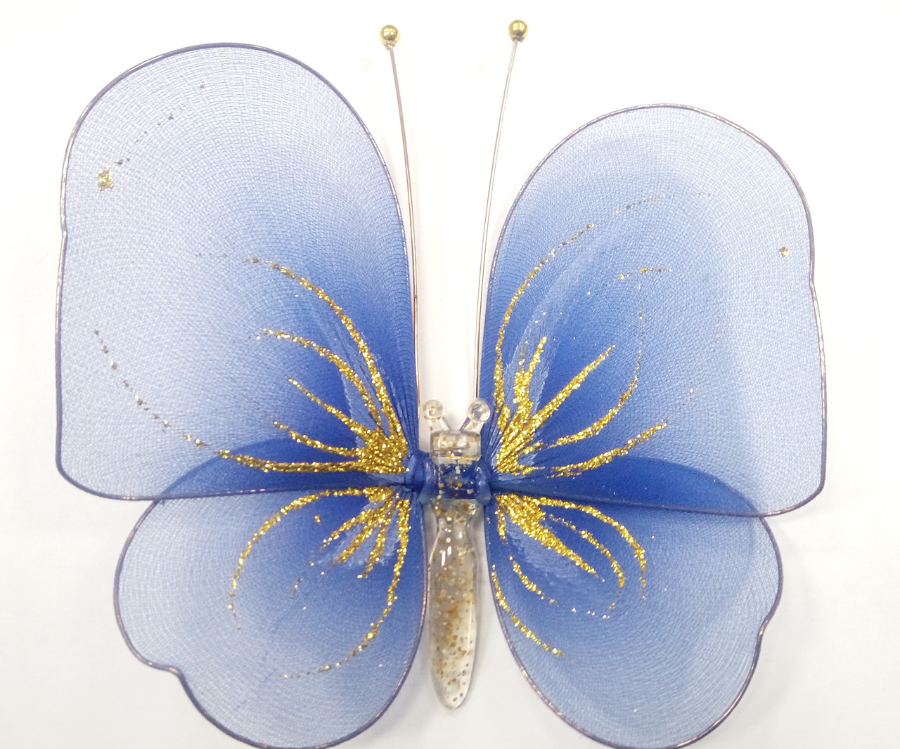 Декоративная Бабочка для штор синяя