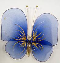 Декоративная Бабочка для штор синяя, фото 3