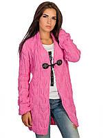 Кардиган розовый вязанный размер универсал