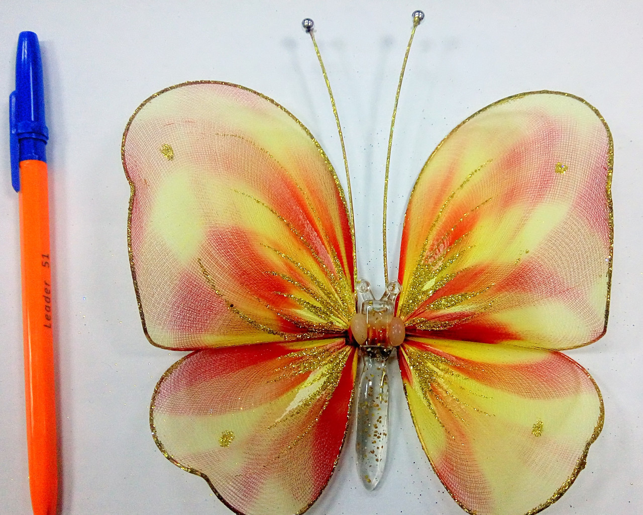 Декоративная Бабочка для штор радуга
