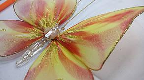 Декоративная Бабочка для штор радуга, фото 3