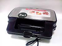 Вафельница-мультигриль 3в1 со сменными пластинами MPM
