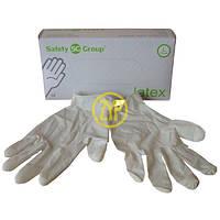 Перчатки одноразовые латексные Safety Group L