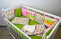 Полный комплект в детскую кроватку Радужный