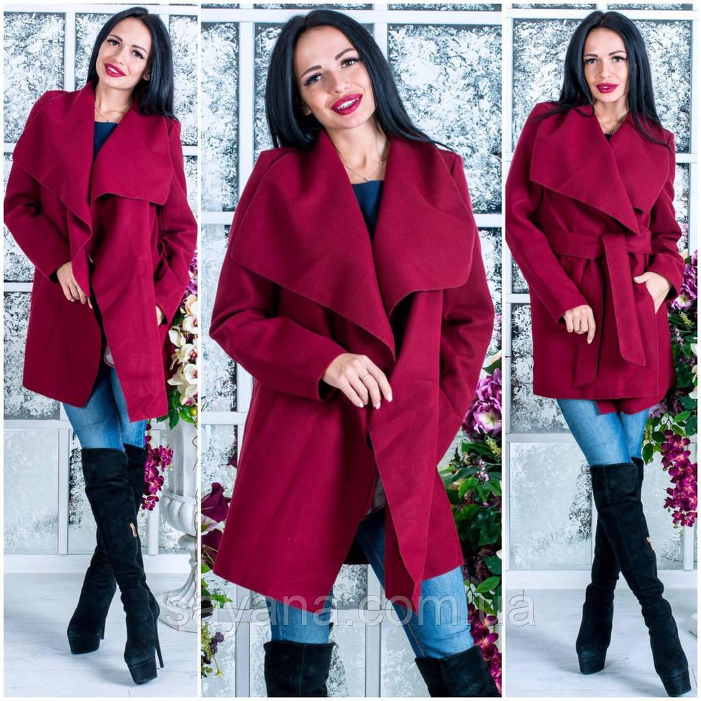 Стильное женское пальто-кардиган, в расцветках