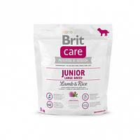 Brit Care Junior Large Breed Lamb с ягненком и рисом для молодых собак крупных пород 1кг.