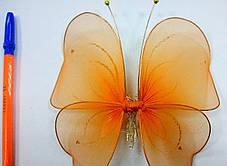 Декоративная Бабочка для штор оранжевая, фото 3