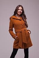 Пальто демисезонное горчичного цвета