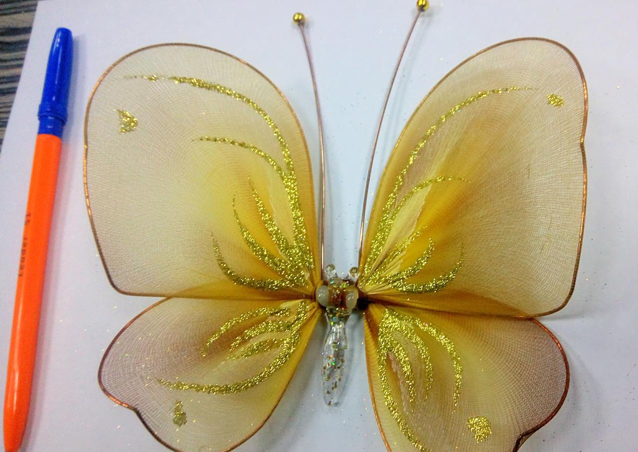 Декоративная Бабочка для штор радуга 2