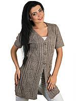 Кардиган женский вязанный демисезонный цвет мокко универсальный размер 44-48