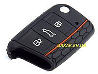 Силіконовий чохол для ключа універсальний Volkswagen Golf 7 GTI, Seat Leon 1044, фото 1