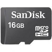 Карта памяти Micro SDHC 16Gb, SanDisk Class 10