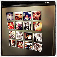 Набор магнитов 12 штук на холодильник с Вашими фото