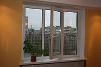 Металлопластиковое окно КВЕ 2100*1400 3-х камерное