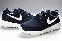 Кроссовки мужские Nike Roshe Run II Dark Blue White Mesh Cambridge