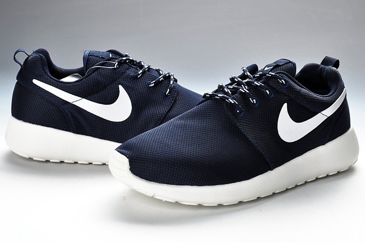 Кроссовки мужские Nike Roshe Run II Dark Blue White Mesh Cambridge, фото 1