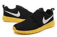 Кроссовки мужские Nike Roshe Run II Black-yellow, фото 1