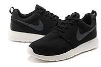 Кроссовки мужские Nike Roshe Run II black breathable, фото 1