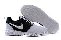 Кроссовки мужские Nike Roshe Run II white oreo космос, фото 1