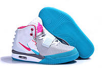 Кроссовки женские Nike Air Yeezy 2 White Pink Blue, фото 1