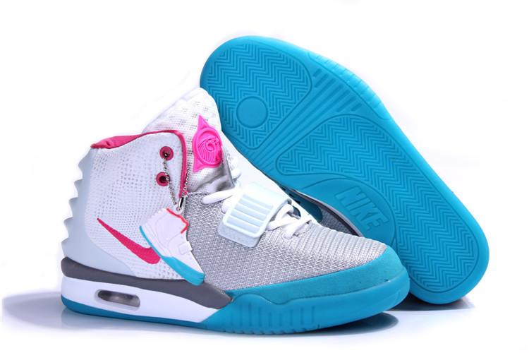 e8f945c0 Кроссовки Женские Nike Air Yeezy 2 White Pink Blue — в Категории ...