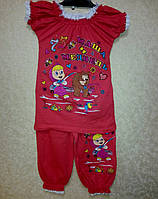 Летний Костюм для девочки туника и шорты  султанки, фото 1