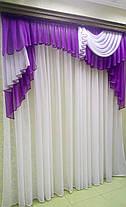 Ламбрекен Мадлен (для карниза 2м длиной) -фиолетовый, фото 3