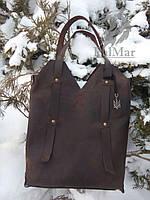 """Жіноча шкіряна сумка """"Рouch2"""" кожаная сумка ручної роботи, майстерня PalMar, натуральна шкіра"""