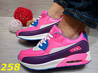 Женские кроссовки Аирмаксы розово-фиолетовые, р.37,38,39