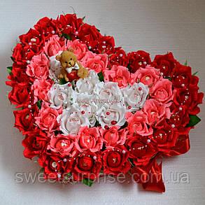 """Сердце из конфет """"C любовью"""", фото 2"""