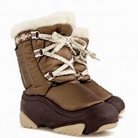 Сноубутсы дутики для девочки DEMAR JOY коричневые, 20-27