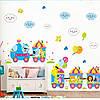 """Интерьерная виниловая наклейка на стену для детей """"Паровозик"""""""