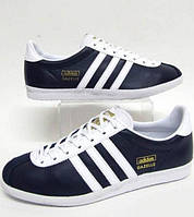Кроссовки кожаные мужские Adidas Gazelle OG trainers Navy