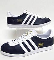 Кроссовки кожаные мужские Adidas Gazelle OG trainers Navy, фото 1