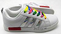 Женские кроссовки  Adidas SuperStarNMD белые с серебром