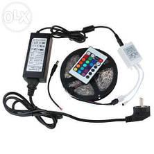 Лента RGB SMD5050 300LED+Пульт 24+Контроллер+Блок питания в СИЛИКОНЕ PREMI!Акция, фото 2