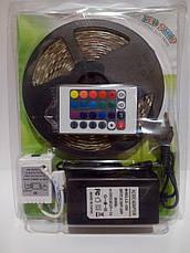 Лента RGB SMD5050 300LED+Пульт 24+Контроллер+Блок питания в СИЛИКОНЕ PREMI!Акция, фото 3