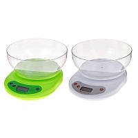 Кухонные весы с чашей до 5 кг + Батарейки!Акция