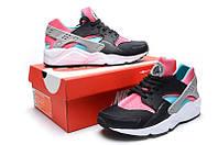Женские кроссовки Nike Air Huarache Black-rose , фото 1
