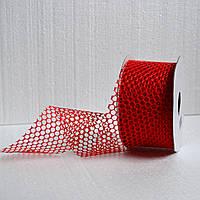 Лента декоративная 60 мм. (красный)