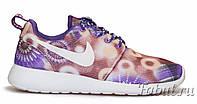 Кроссовки женские Nike Roshe run Floral Fiolet, фото 1