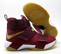 Кроссовки мужские баскетбольные Nike Lebron Soldier 10 bordo