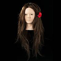 НОВИНКА! Учебный манекен с волосами и MakeUp, 65см. 80%  natural hair